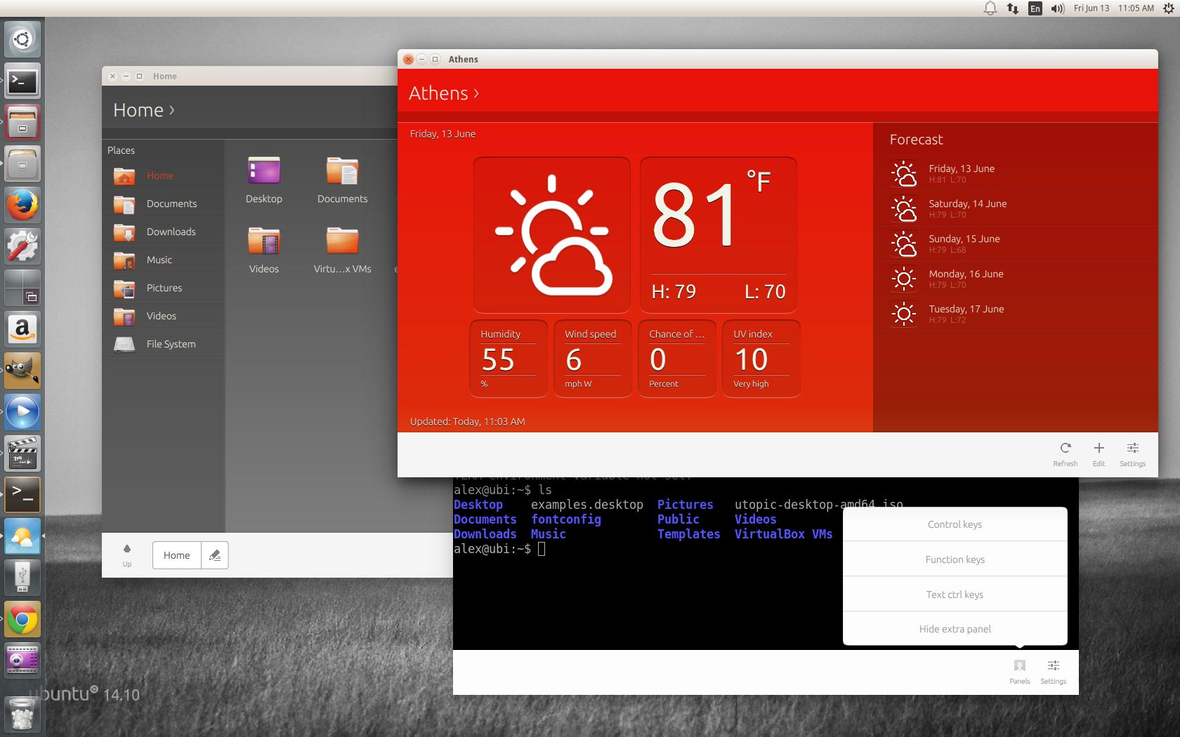 Ubuntu файловый менеджер - c7f